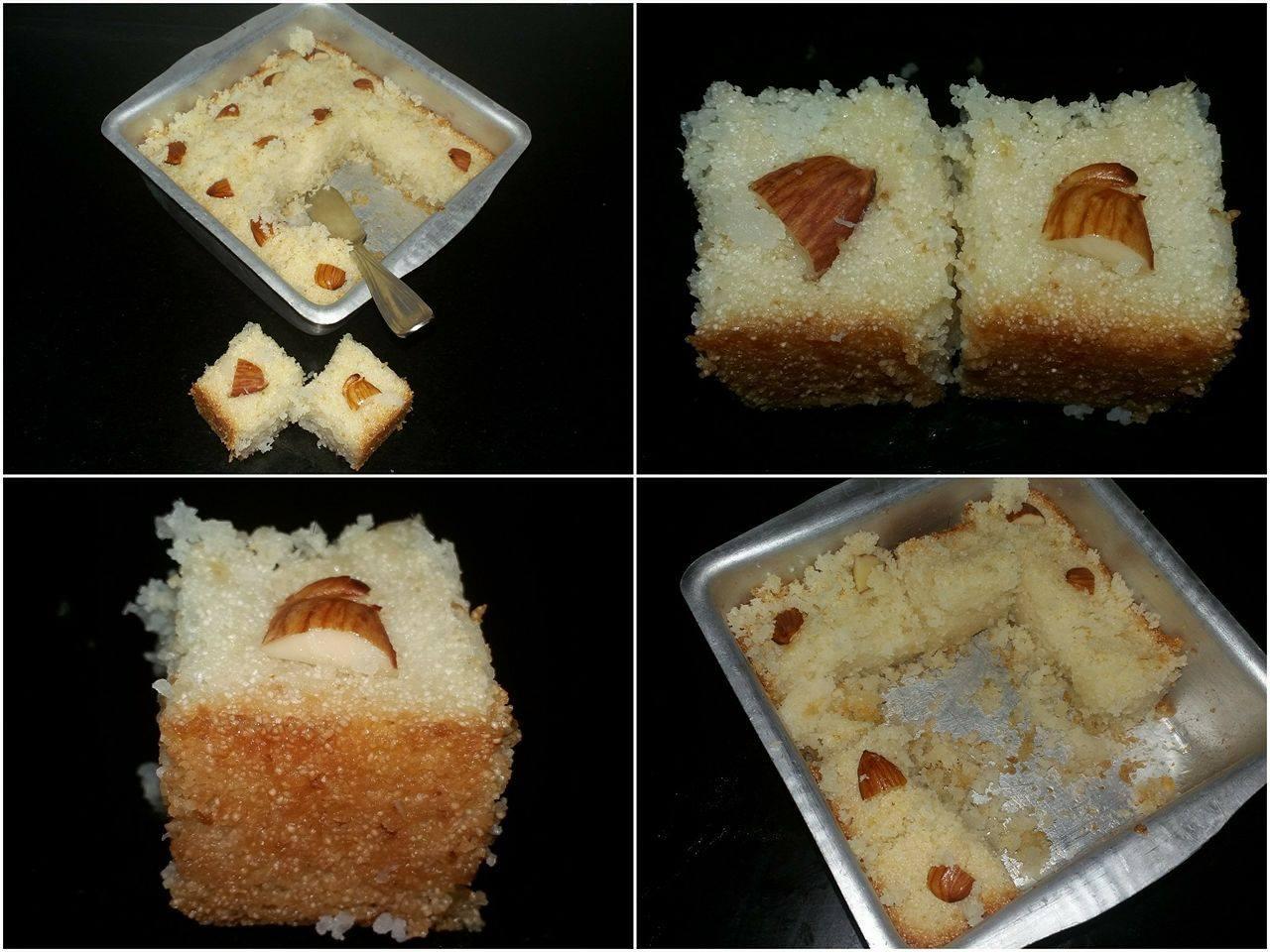 Coconut Semolina Syrup Cake Recipe