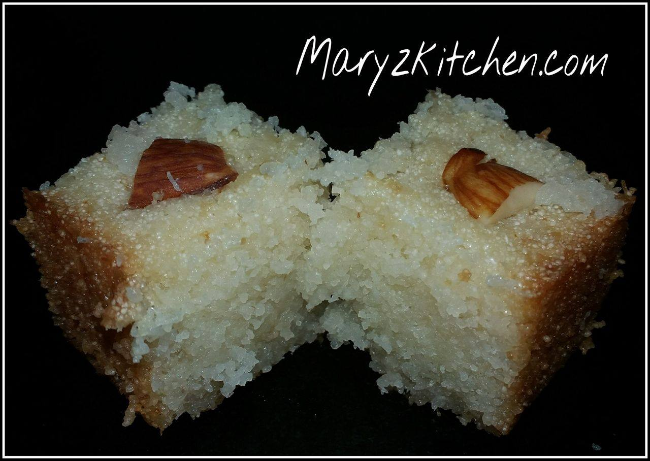 eggless semolina coconut cake recipe mary u0027s kitchen