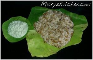 PAYARU KANJI WITH COCONUT CHUTNEY