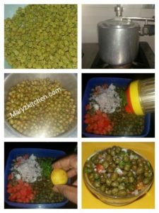 GREEN CHANA CHAAT / GREEN CHICKPEA SALAD